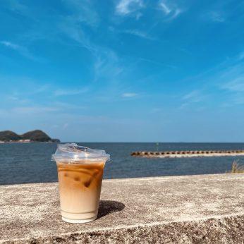 青い海、青い空、美味しいコーヒー